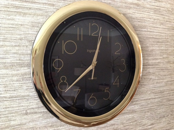 Vintage Wall Clock Quartz Large Battery Operated By Mformodern