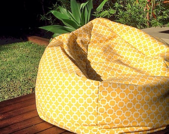 Outdoor Bean Bag Modern Design Yellow/White, Black, Green, Orange Indoor Outdoor Poolside. Kids, Teenagers, Adults