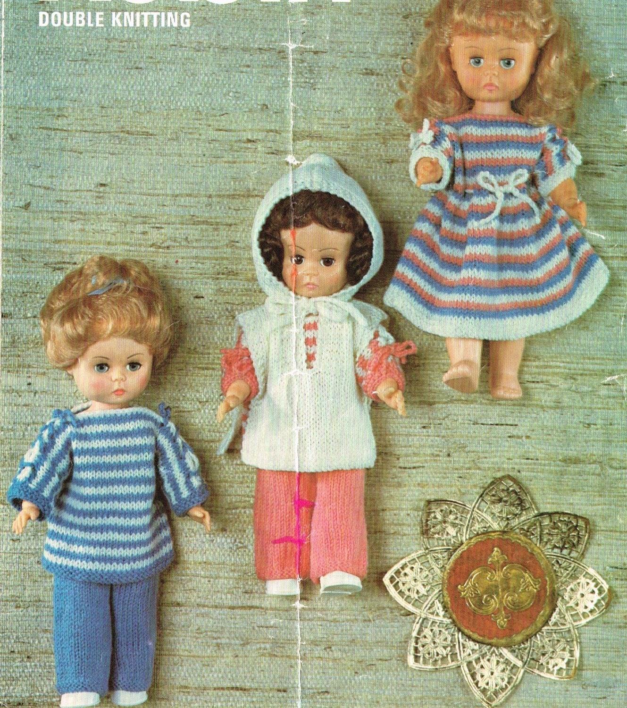 Knitting Pattern For Dolls Hoodie : Dolls clothes knitting pattern for 14 doll. PDF