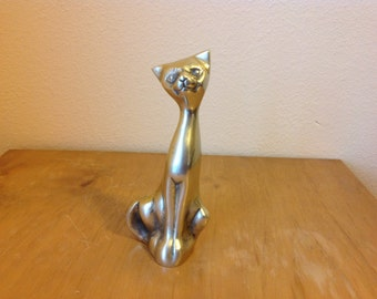 Vintage Brass Cat, Kitten, Kitty Sculpture