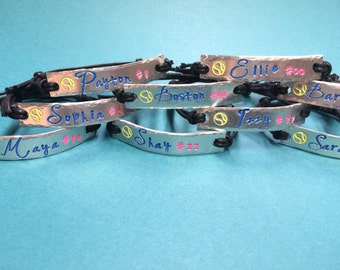 Name Bracelet, Custom Personalized Adjustable Name Bracelets, Design Your Own  Team Bracelet