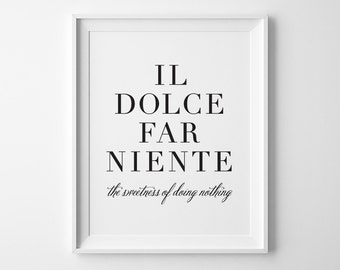 Cute Love Quotes For Her In Italian : Italian quote art Etsy