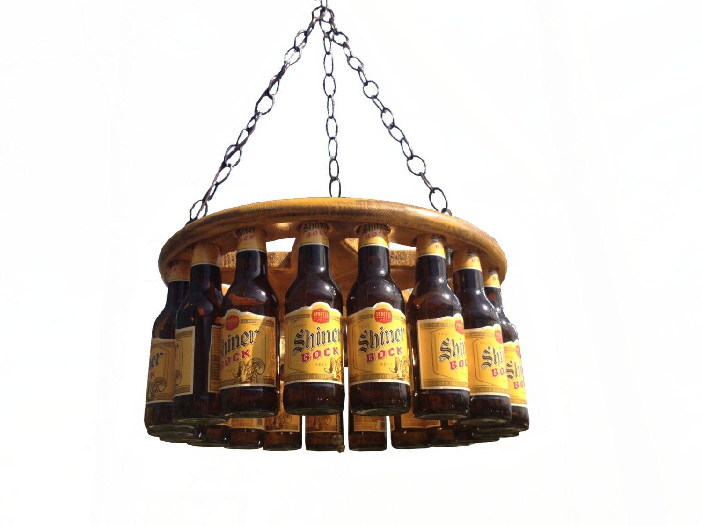 Beer bottle chandelier for How to make a bottle chandelier
