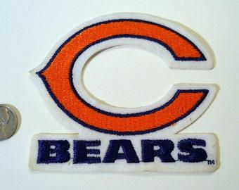 Chicago Bears NOS sew on logo, 1987, Embroidered, felt