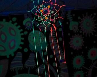 Psychedelic dreamcatcher Psy talisman Fluorescent totem