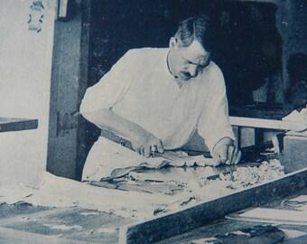 "REDUCED TO CLEAR - Collection ""Pour L'Enseignement Vivant"" La Ganterie - Plate 11 Coupe du Gant (Cut of the Glove) - French - 1920's"