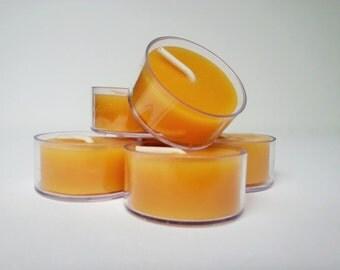 200 - 100% Pure All Natural Handmade Beeswax Tea Light Candles