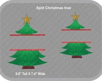 Split Christmas Tree SVG Cutter Design INSTANT DOWNLOAD