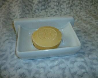 Soap Dish. White Porcelain Wall Soap Dish Vintage