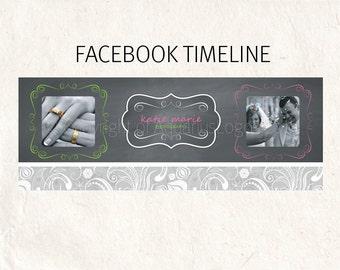 FACEBOOK banner chalkboard logo Facebook timeline psd template - fully editable