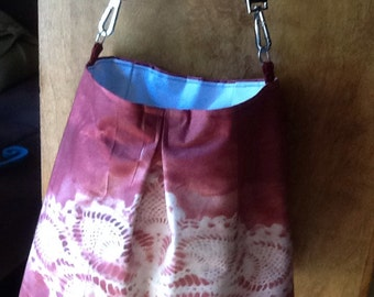 Super Cute Vintage style Hand Painted Hobo Shoulder Purse / Tote/ diaper bag/ messenger bag