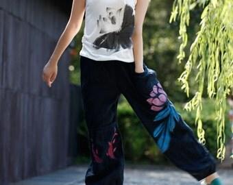 Women's Fashion Pants with Pocket Wide Leg Pants Trousers
