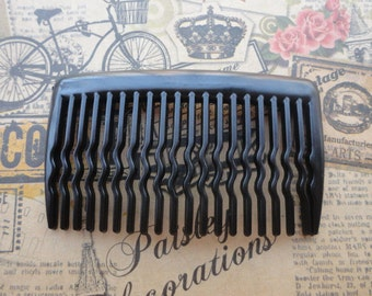 100pcs plastic Hair Combs (20 teeth)--Black plastic hair comb 60 x35mm  HA52