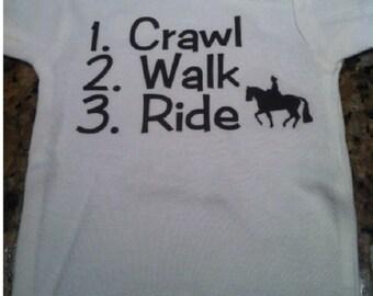 Horseback riding baby clothes, future horseback rider, i love horseback riding, horseback riding baby one piece, horse back riding baby tee
