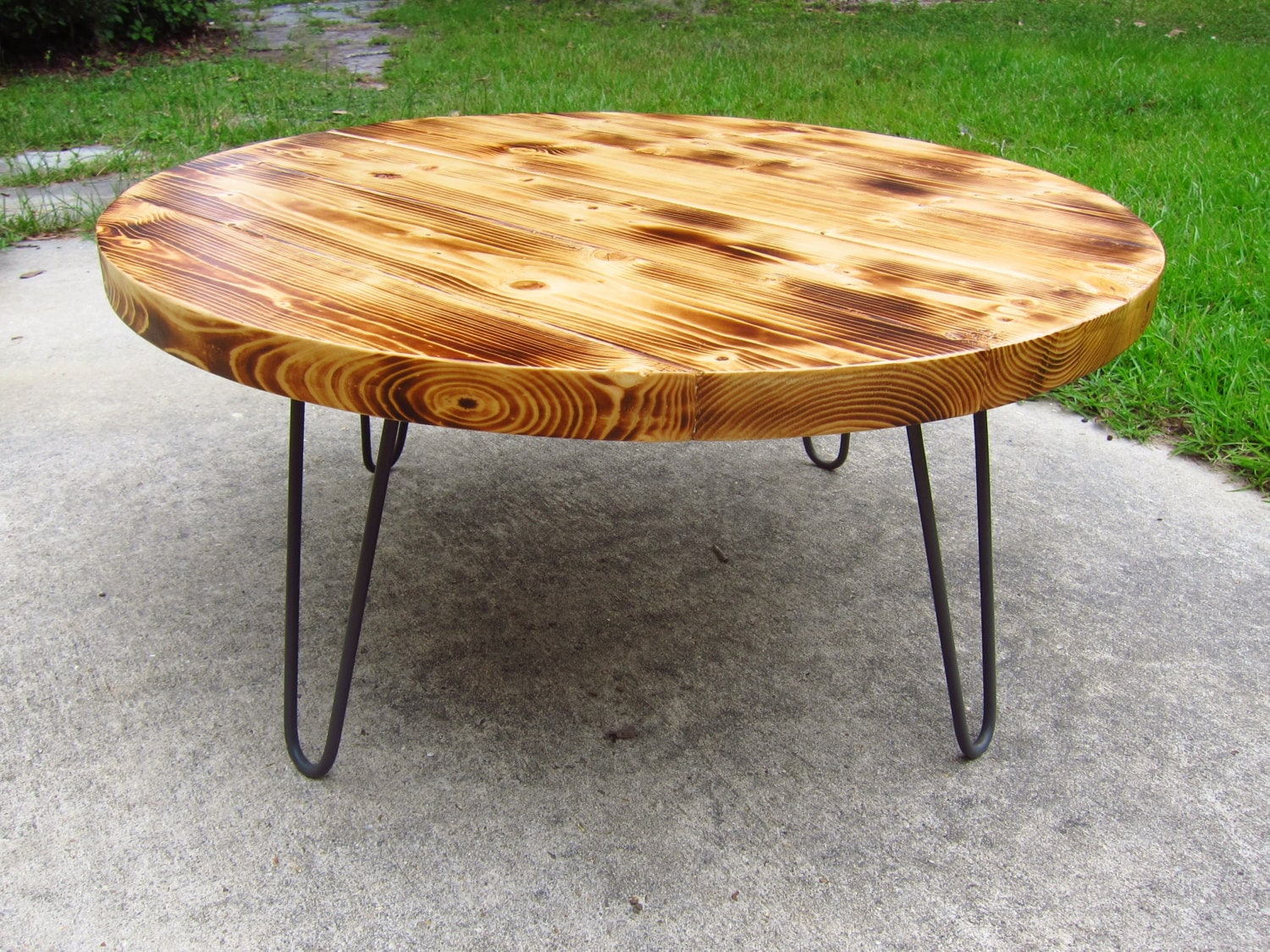Rustic round coffee table Round rustic coffee table