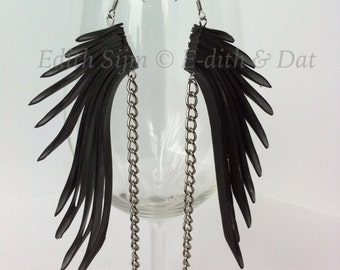 Inner tube earrings and chain