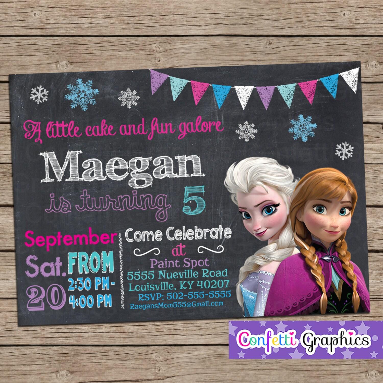 Elsa invitation – Customised Birthday Invitation Cards