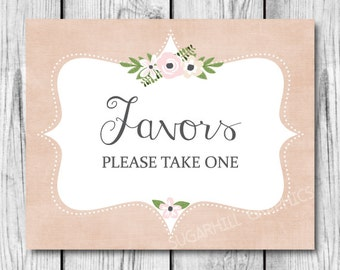 Favors Sign, Printable Wedding Sign, Wedding Sign, Wedding Signage, Wedding Decor, Wedding Signage