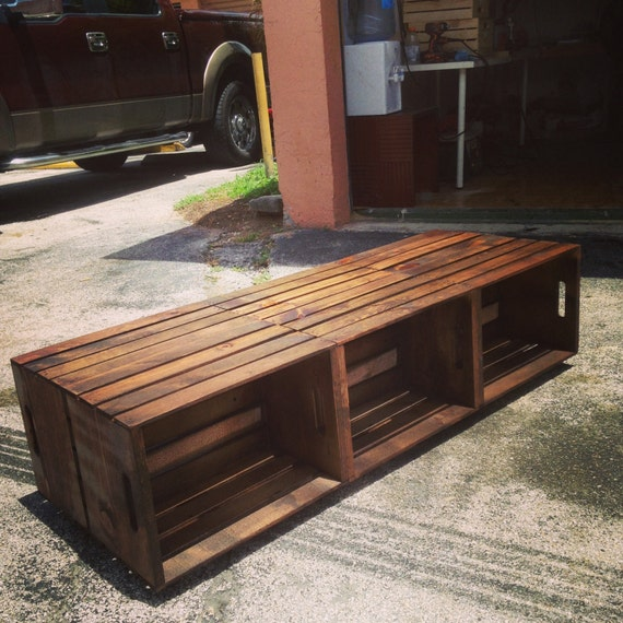6 Wine Crate Coffee Table Rustic Coffee By Mayhemfurnitureco