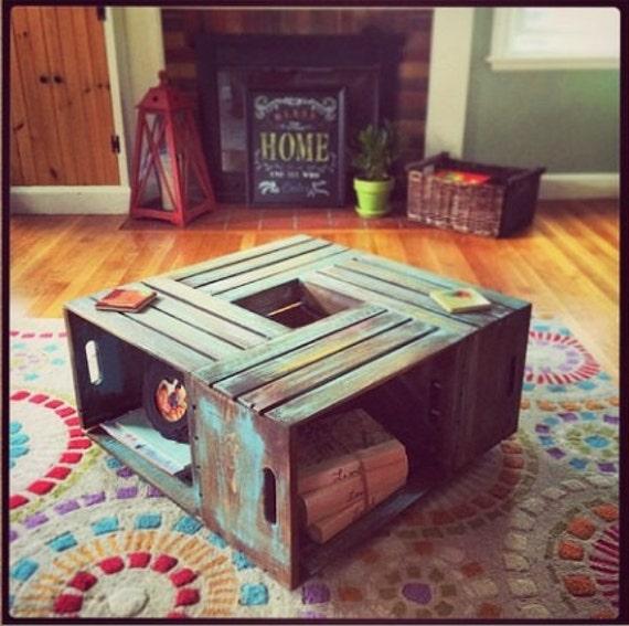 Wine Crate Coffee Table // Rustic Coffee By MAYHEMFURNITURECO