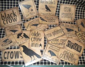 Crow Prim Pantry Paper Labels