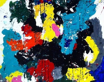 Original 70x100cm abstract painting named Fizz