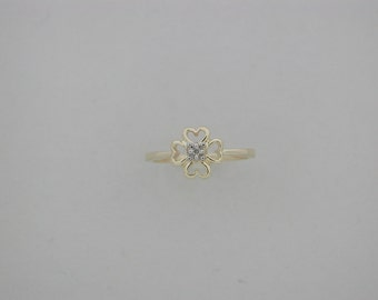 """Genuine Diamond """"Heart"""" Ring For Children Teen"""