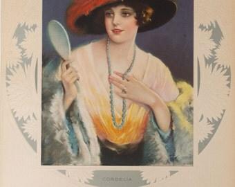 Original Vintage 1920s Desch Cordelia Print