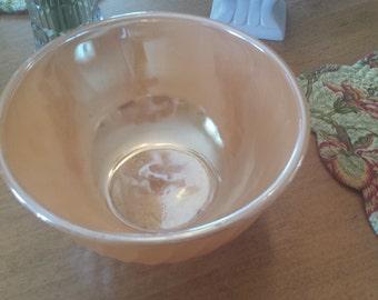 Peach Luster Swirl Fire King Bowl