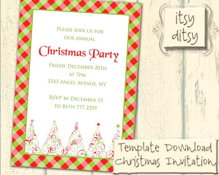 diy-weihnachten-einladung-vorlage printable einfach zu, Einladung