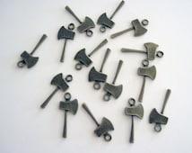 Ax/ Tomahawk/ Battleaxe  Bronze Tone Charms, 4 in a Pack Bulk Jewelry/Craft Supplies CLJewelrySupply