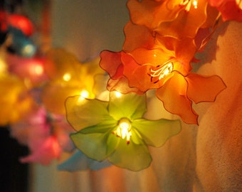 colorful  Hippeastrum  flower string lights for Patio,Wedding,Party and Decoration (20 bulbs)