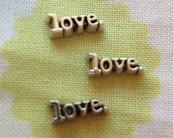 Love floating locket charm