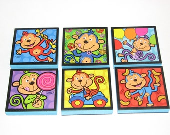Monkeys Note Pads Set of 6 - Excellent Party Favors