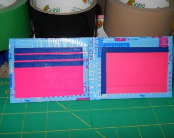 Say It Right, Pink, and Blue Duct Tape Wallet