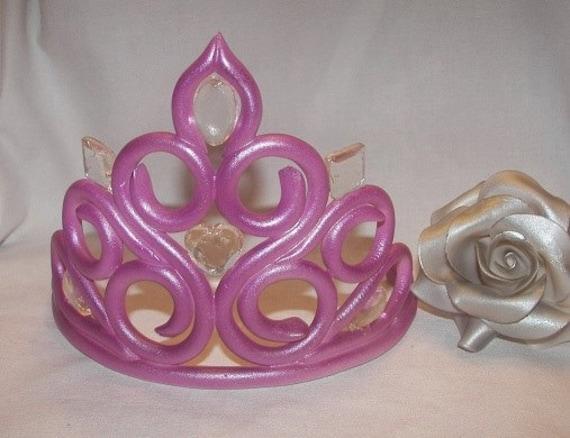 Items similar to Large Fondant Princess Tiara Crown (1 in ...