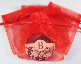"""72 Red Sheer Organza Bags 3"""" x 4"""" - 6 Packs of 12"""
