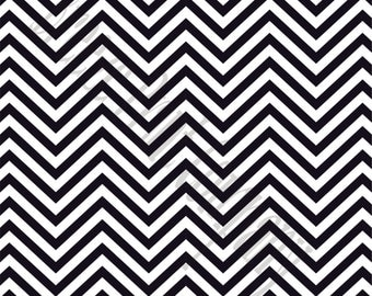 Black chevron craft  vinyl sheet - HTV or Adhesive Vinyl -  black and white zig zag pattern   HTV53
