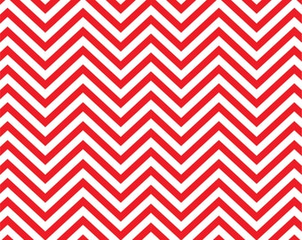 Red chevron craft  vinyl sheet - HTV or Adhesive Vinyl -  red and white zig zag pattern   HTV59