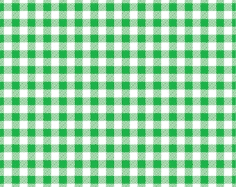 Gingham  craft  vinyl sheet - HTV or Adhesive Vinyl -  green and white pattern   HTV202