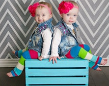 Roseate Carbon Twin Set - Girl Twim Outfits - Girl Twin Outfit - Girl Twin Gift - Twin baby outfit - twin outfit - outfit for twins