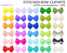 Bow cliparts PNG and JPG, bow clipart, girl, ribbon, stiched bow clipart - BR 325