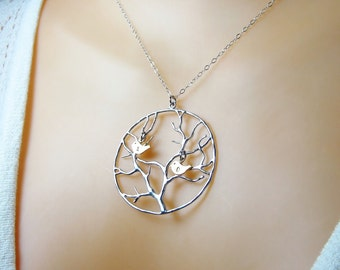 Family necklace Family tree necklace Mothers necklace Mothers jewelry Tree of life necklace Mothers day gift Tree of life jewelry N105