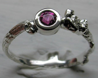 Pink Tourmaline Ring in Sterling