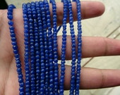 3 to 3.5 mm Natural Dyed Blue Sapphire Micro Faceted Rondelle Full 13 inch Strand-AA+,Affordable Price