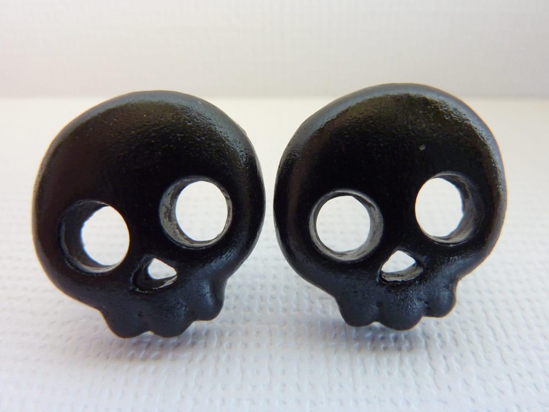 black skull stud earrings skull earrings skeleton