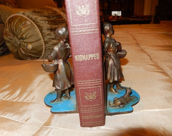 PEASANT GIRL BOOKENDS