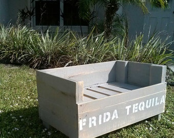Small Reclaimed Wood Dog Bed