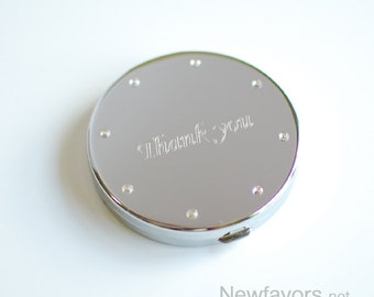 Personalized compact mirror - Engraved compact mirror - Bridesmaid gift