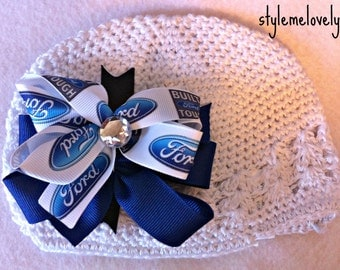 Ford Baby Girl Boutique Bow Crocheted Hat